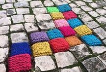 Yarnbombs / Colourful, wonderful yarnbombs.