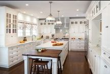 Modern-Traditional kitchen / Warwick, NY kitchen by Kuche+Cucina. Modern-Traditional or like many call it now a days - Transitional design. Beaded inset painted cabinetry. White Carerra and solid wood counters.