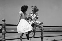 Bert Hardy / Having written an article for amateur photographers suggesting that you didn't need an expensive camera to take good pictures, Hardy staged a carefully posed photograph of two young women sitting on railings above a breezy Blackpool promenade using a Box Brownie in 1951, a photograph which has since become an iconic image of post-war Britain.