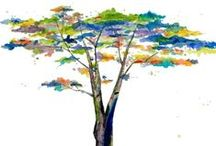 Clipart trees and leaves