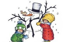 Clipart winter and christmas