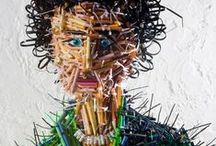 Pencil Art / Amazing microscopic sculpture and design with pencils