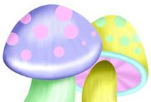 clipart mushrooms