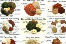 Condiments: DIY dry rubs and seasoning / Here's all the fun stuff that goes along with all the yummy food we eat.