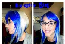 Manic Panic Rockabilly Blue / Reference pics for Manic Panic Semi-Permanent hair colour in Rockabilly Blue. Vegan & Cruelty-Free. Available in Classic & Amplified. For full product catalogue email us: info@anonamiss.co.za