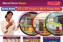 Marvel Discount Offer / Great News -  10% to 25% Discount on Marvel Vertical, Bamboo and Alum. Venetian Blinds.  At Marvel Showrooms - Nakumatt Junction, Nakumatt Prestige and Nakumatt Mega Branches
