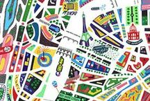 i <3 maps / maps, plans and travel posters
