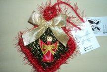 Natal no Balaio da Japa / Enfeites natalinos! Ideal para presentear e ornamentar sua Árvore de Natal.  Sob encomenda.  https://www.facebook.com/balaiodajapa  http://keikonagahama.blogspot.com.br/