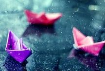 """☂ Rain & rain drops  ☂ / """" If you want the rainbow, you must first deal with rain. """""""