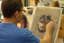 Michael Kruzich Portraiture Workshop / MIchael Kruzich Mosaic Portraitaure Class, June 24-29, 2015. Institue of Mosaic Art, Berkeley, CA