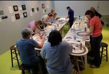 Class Photos / Photos of students, student work and classes in action at Institute of Mosaic Art