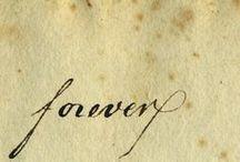 WORDS ~ Fonts and handwritings ~ Fontit ja käsinkirjoitus