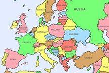 COUNTRIES ~ Some European countries ~ Joitakin Euroopan maita