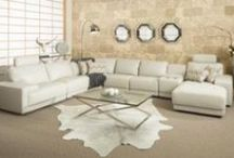 Luxurious Leather Lounges / Contemporary & traditional leather lounges for the home