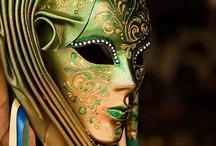 Harlequin & Masquerade / Venice - Venitian Carnival Masks / Masks (Jester / Mardi Gras)