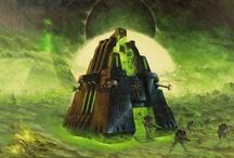 WH40k - Necrons / Warhammer 40k Artwork Necrons Battle