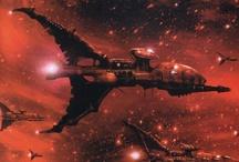 WH40k - Space Battles / Titans / Scenery - Warhammer 40k / Warhammer 40k Art Artwork Space Battlefleet Gothic Titans