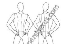 Free Male Fashion Croquis Templates / FREE downloads of male fashion figure croqui templates for menswear fashion drawing - High quality Illustrator and bitmap downloads and more mens croquis at www.designersnexus.com