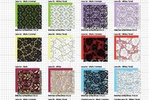 Illustrator Fabric Patterns & Vector Fashion Embellishments / Library of seamless Vector Fabric Patterns and Apparel Embellishments  for Fashion sketching in Adobe Illustrator such as rhinestones, appliqués, rosettes, etc.  160+ vector seamless fabric patterns and 400+ vector fashion embellishments for $49.95 at www.mypracticalskills.com