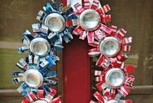 Recycled Patriotic Holidays / Find great ideas to make recycled crafts & decorations for Memorial Day and July 4th!