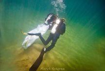 Underwater Wedding Session