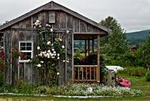 Rustic & beautiful structures  / I love old barns and cottages  -  the essence of their structure and ambiance captures the rustic feel i love.