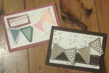 Petite Pennants Builder Punch / A collection of other ideas for using your Petite Pennants Builder Punch, this is just where I store the ideas that I have found from other people using their Stampin Up stuff / by Creation Craft by Janis