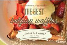 Waffles / Belgian waffles around the world.