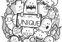 tangles doodles dibuixos