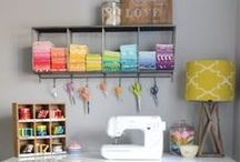 Sewing Room / Ideas to create a fun and creative space for sewing! Let's Sew is a Koala Studios Showcase dealer.