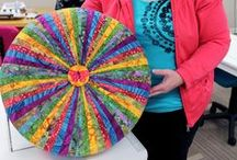 Tuffet Ideas / Our DIY Tuffet class is extremely popular. Find fabric inspiration here and sign up for our class by phone: 812-471-7945.