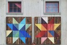 Midwest Barn Quilts / We're based in the heart of the Midwest. Barn quilts are tradition around here. Inspired? Recreate a barn quilt using fabric from Let's Sew!