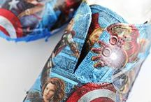 Παπούτσια. Decoupage shoes diy