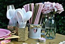 Events: Pink & Gold Summer Party / The perfect party theme for a glam summer birthday girl.