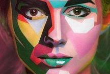 Face-Paint & Make-Up / Ideas for glam nights...and fancy dress occasions.