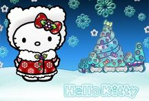 Hello kitty christmas wallpaper
