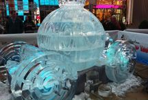 Disney ice sculpture