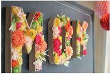 * Mes jolies créations fleuries * / Réalisation à partir de fleurs, réelles ou artisanales. / by Scrapmalin
