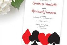 Las Vegas Wedding Invitations / Playing Card Invitations / Las Vegas Wedding Invitations, Save the Date cards and RSVPs perfect for your Las Vegas Wedding.  Las Vegas Destination Wedding Invitations, Las Vegas Invitations Invitations http://www.invitationsbyrsquared.com
