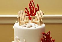 Beach Wedding Cakes / Are you having a destination beach or seaside wedding? If so, here are some traditional to the not so traditional beach wedding cakes.