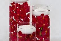 """Wedding Day Centerpieces. / A great way to up the """"mood"""" at your reception is to have awesome center pieces."""