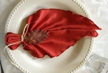 Wedding Day Napkins / Isn't it all about the little details. Some of these napkins are so simple while others are so detailed.