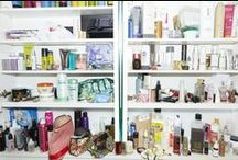SHELVES / inside the beauty cabinets