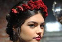 Wedding Day Flower Crowns / Hair, hairstyles, crowns, hair crowns, bridal crown, wedding hair, flower hair