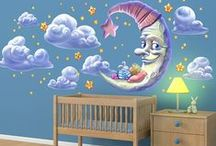Nursery / Lull any child to sleep with these comforting decals.