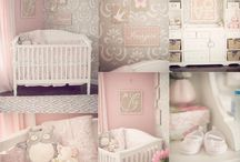 Baby room ideas 2 - Pink, Grey/Silver, White with BUNNIES & BEARS