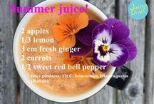 Juicy recipes by Carina! / Healthy juice recipes/sunne juiceoppskrifter