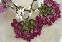 oya lace and beaded crochet