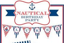 Nautical Party / Nautical party inspiration! • Blog posts: http://blog.chickabug.com/category/party-themes/nautical • Products: http://www.chickabug.com/shop-by-theme/nautical-party