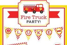 Fire Truck Party / Fire Truck party inspiration! • Blog posts: www.bitly.com/fire_truck_parties • Products: http://www.chickabug.com/shop-by-theme/fire-truck-party / by Chickabug